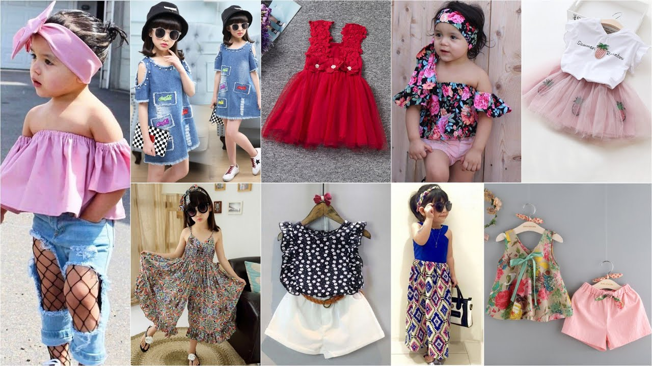 صورة ملابس اطفال بنات صيف2019 , ازياء الصيف للبنات الصغار2019