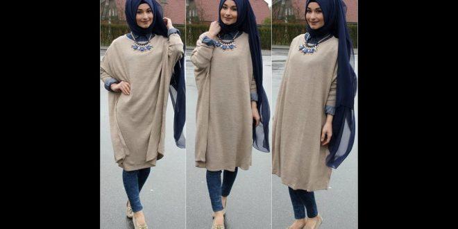 صورة لبس محجبات شتوي , ازياء شتوي علي الموضة