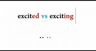 معنى كلمة exciting , ترجمexciting