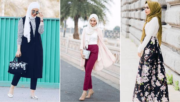 صورة ازياء محجبات عصرية , صور ملابس محجبات 2019