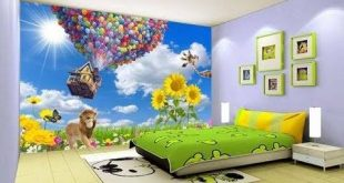 ورق حائط غرف نوم اطفال , كرتون علي حائط غرفة طفلك