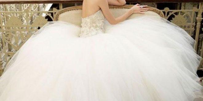 صورة صور فساتين زفاف جديدة , ازاي تختاري فستان فرحك