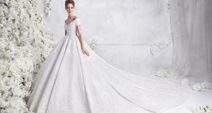 صور احدث واجمل فساتين الزفاف , كوني ملكة يوم زفافك