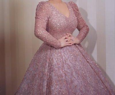 صورة صور فساتين الخطوبة , احبى اطلالة فستانك فانتي جميلة