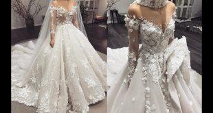 ملابس الاعراس 2019 , احدث صيحات فساتين الزفاف