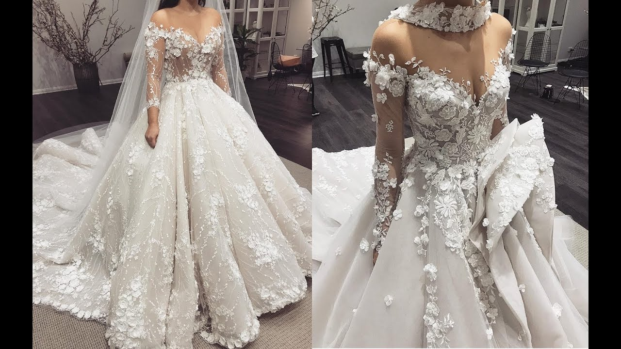 صورة ملابس الاعراس 2019 , احدث صيحات فساتين الزفاف