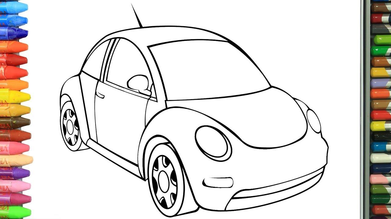 صورة رسومات سيارة للتلوين , رسومات لتشجيع الطفل علي التلوين