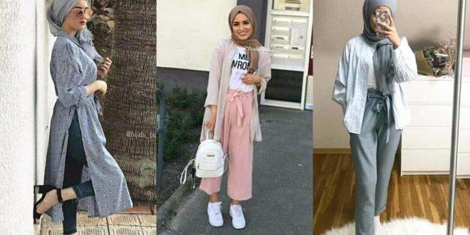 صورة موضة حجاب 2019 , خامات و اشكال حجاب جديد