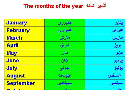 اسماء الاشهر بالعربي كم عدد شهور السنه الميلاديه الغدر والخيانة