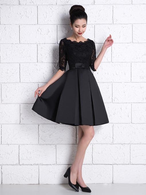 صورة فساتين قصيرة سوداء , فستانين لعاشقات اللون الاسود