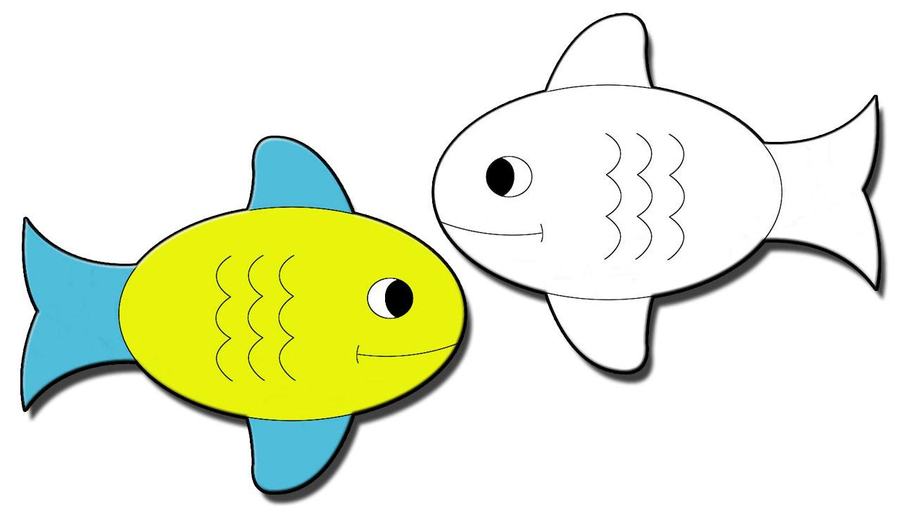 صورة طريقة رسم الاسماك بالصور , كيفية رسم سمكة للمبتدئين 682 2