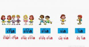 صورة اسماء الاشارة للاطفال , علمي طفلك اسماء الاشارة
