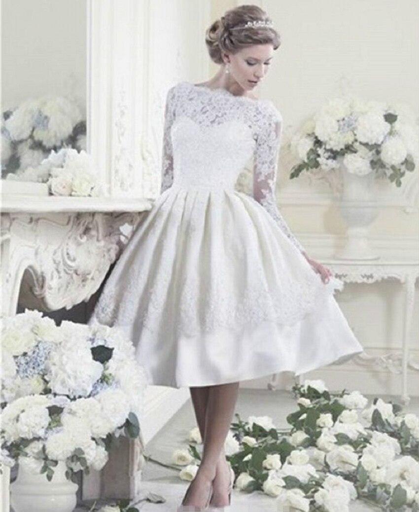 صورة فساتين بيضاء قصيره , اختيار فستان زفاف ليس طويل