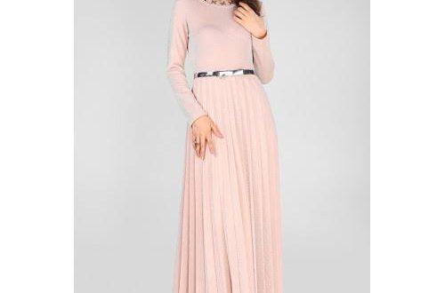 صورة فستان وردي فاتح , تالقى بقصات ولا اروع من الوردى الفاتح