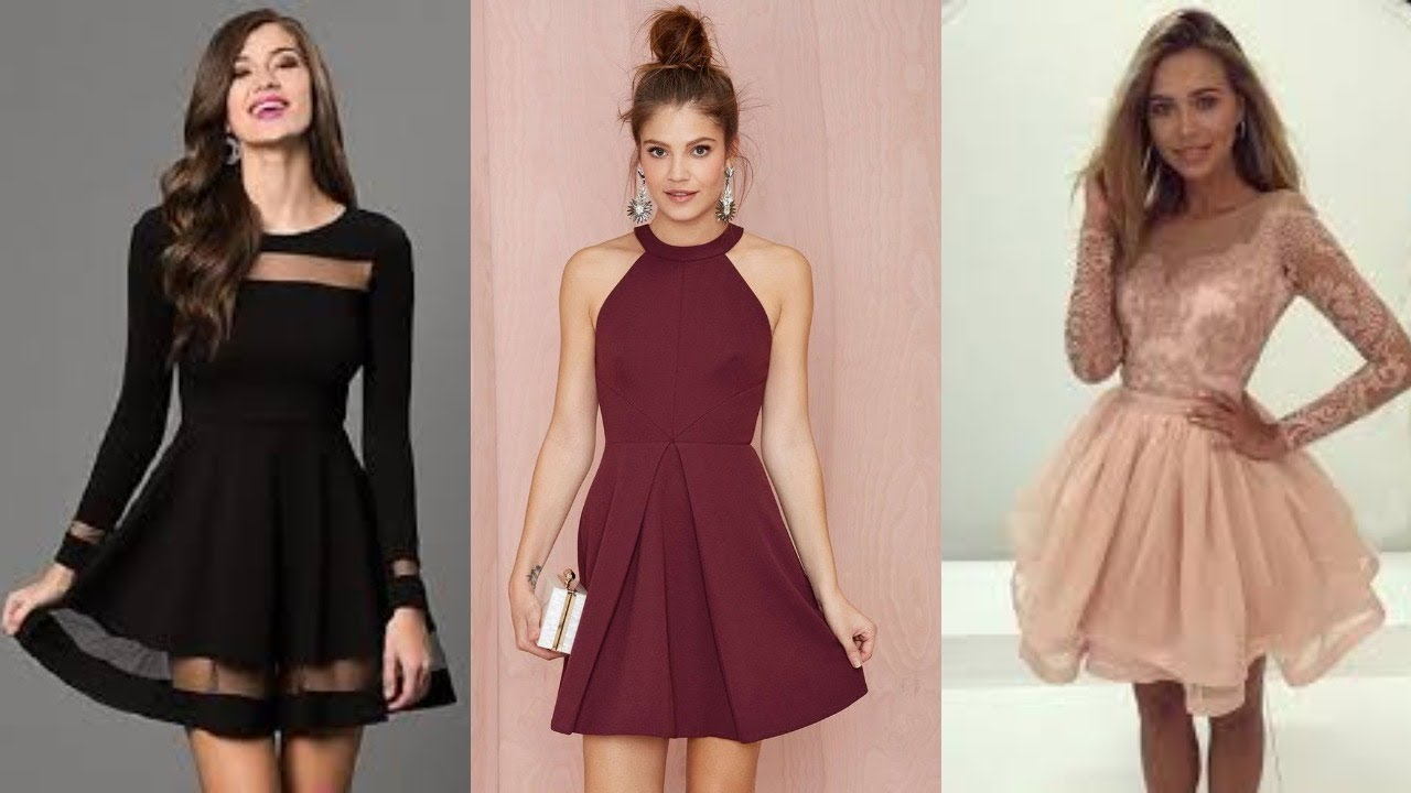 صورة فساتين سوارية قصيرة , كيف تختارين فستان السهرة المناسب