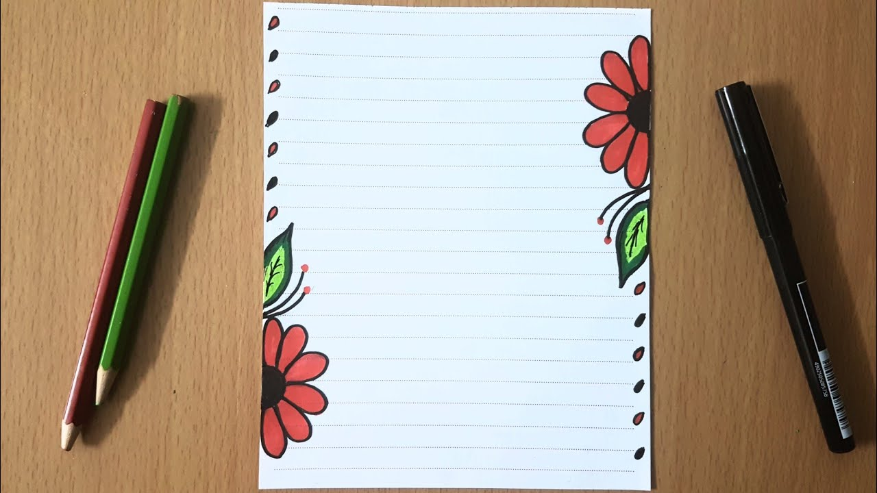 صورة تزيين الدفاتر بطرق سهلة وبسيطة من الداخل , رسومات للكرسات المدرسية