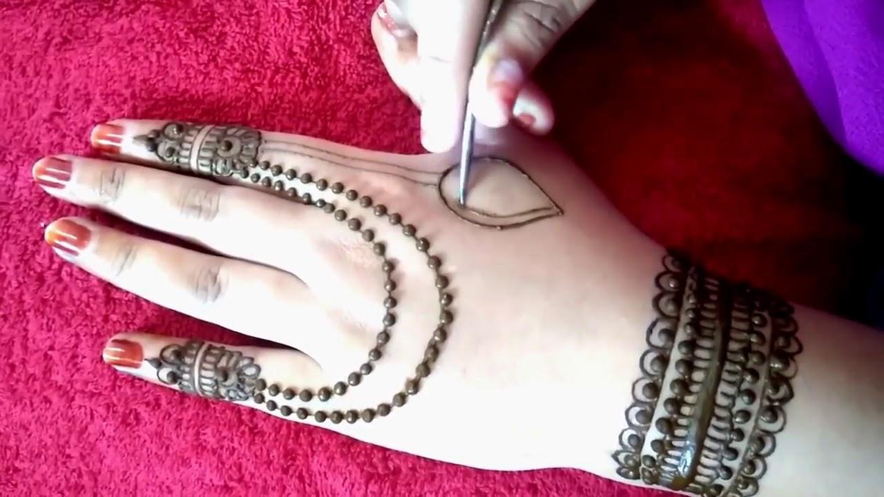 صورة رسم حنة للعرايس , اشكال مختلفة للحنة علي اليدين