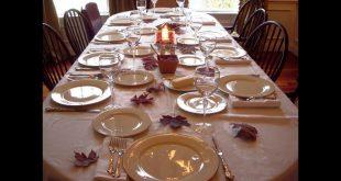 ترتيب طاولة الطعام , اتيكيت في تنظيم السفرة