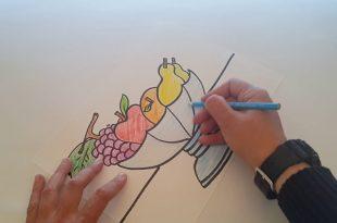 صورة رسم صحن فواكه , هواية الرسم للمبتدئين وللاطفال