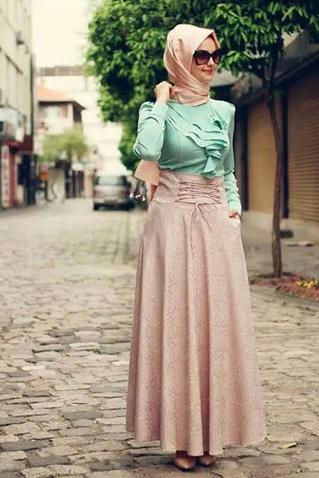 صورة فساتين تركية للمحجبات فيس بوك , اطلالات تركيه مميزه 460 1