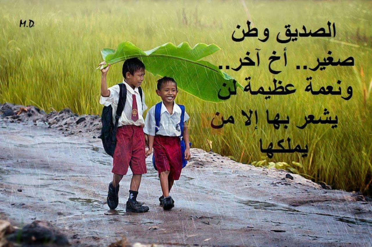 صورة كلام جميل عن الصداقة قصير , الصديق الوفي كنز