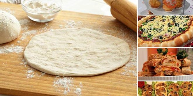 صورة طريقة عمل عجينة البيتزا بالصور , عجينة هشة لبيتزا و لا اطعم