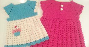 صورة فساتين بيبيهات كروشيه , اجمل الموديلات واحلي الفساتين لطفلك