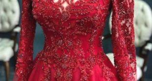 صورة تفسير حلم ارتداء فستان احمر , ارتداء فستان احمر فى المنام و تفسيره