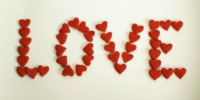 صورة كلمات انت الحب , بالحب تحيا القلوب