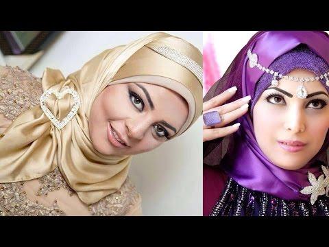 صورة لفات طرح سواريه بسيطة , تألقي بحجابك في مناسباتك المميزة 3314 14