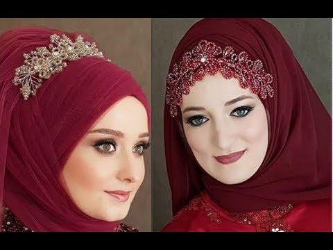 صورة لفات طرح سواريه بسيطة , تألقي بحجابك في مناسباتك المميزة 3314 16