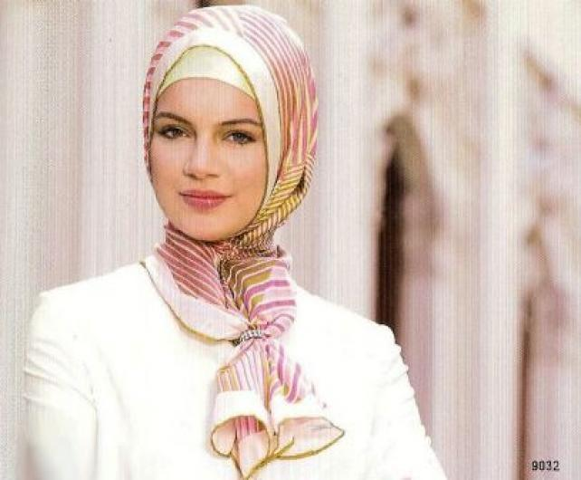 صورة لفات طرح سواريه بسيطة , تألقي بحجابك في مناسباتك المميزة 3314 20