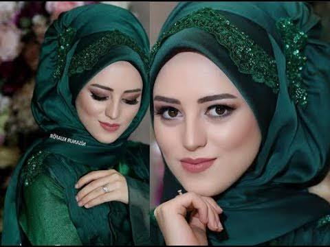 صورة لفات طرح سواريه بسيطة , تألقي بحجابك في مناسباتك المميزة 3314 21