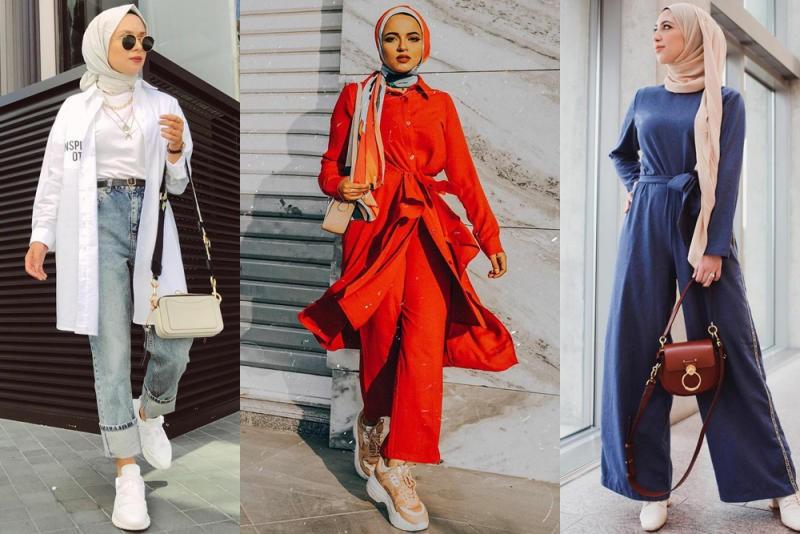 صورة لبس حجاب 2019 , محجبات متألقات باجمل الملابس المنسقة