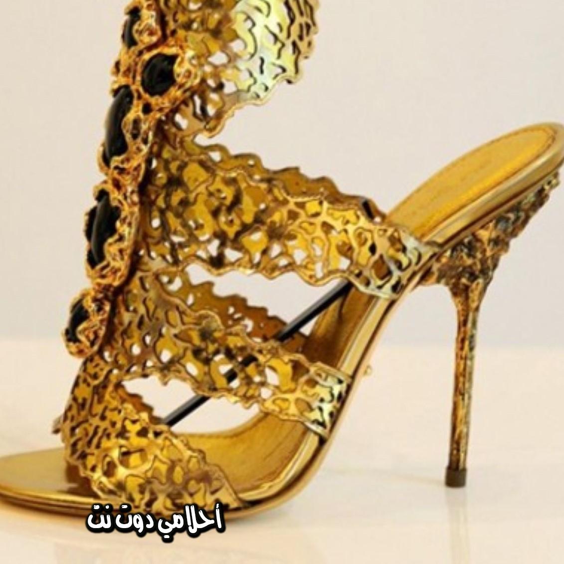 صورة تفسير حلم حذاء ذهبي كعب 2692